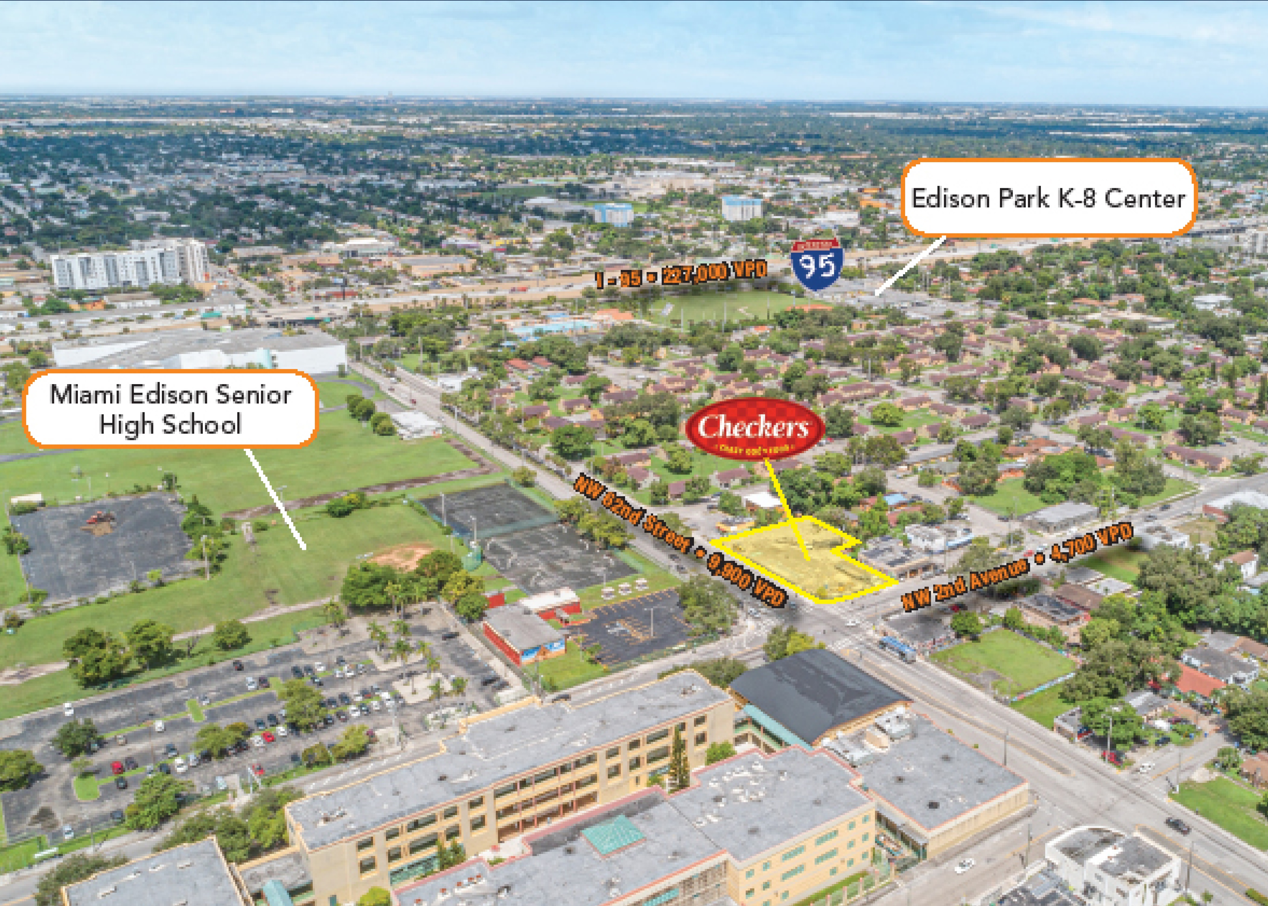 Checkers Miami 20-Yr NNN Lease